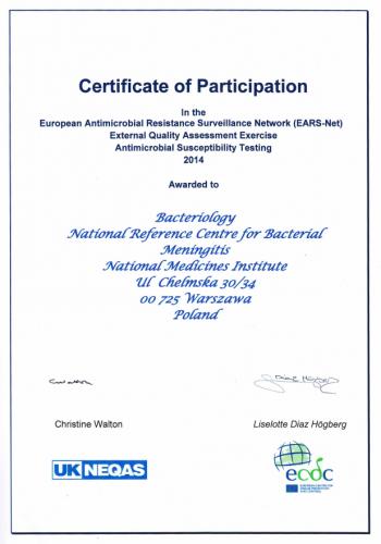 Certyfikat_EARS_Net_2014