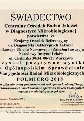 Certyfikat_Polmikro_2018